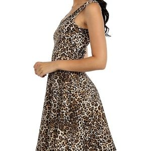 Leopard Print Mini Dress